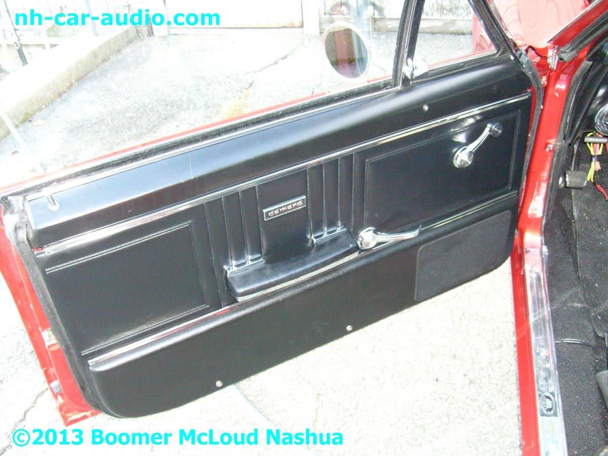 67 camaro custom door panel speaker grille boomer nashua mobile electronics. Black Bedroom Furniture Sets. Home Design Ideas