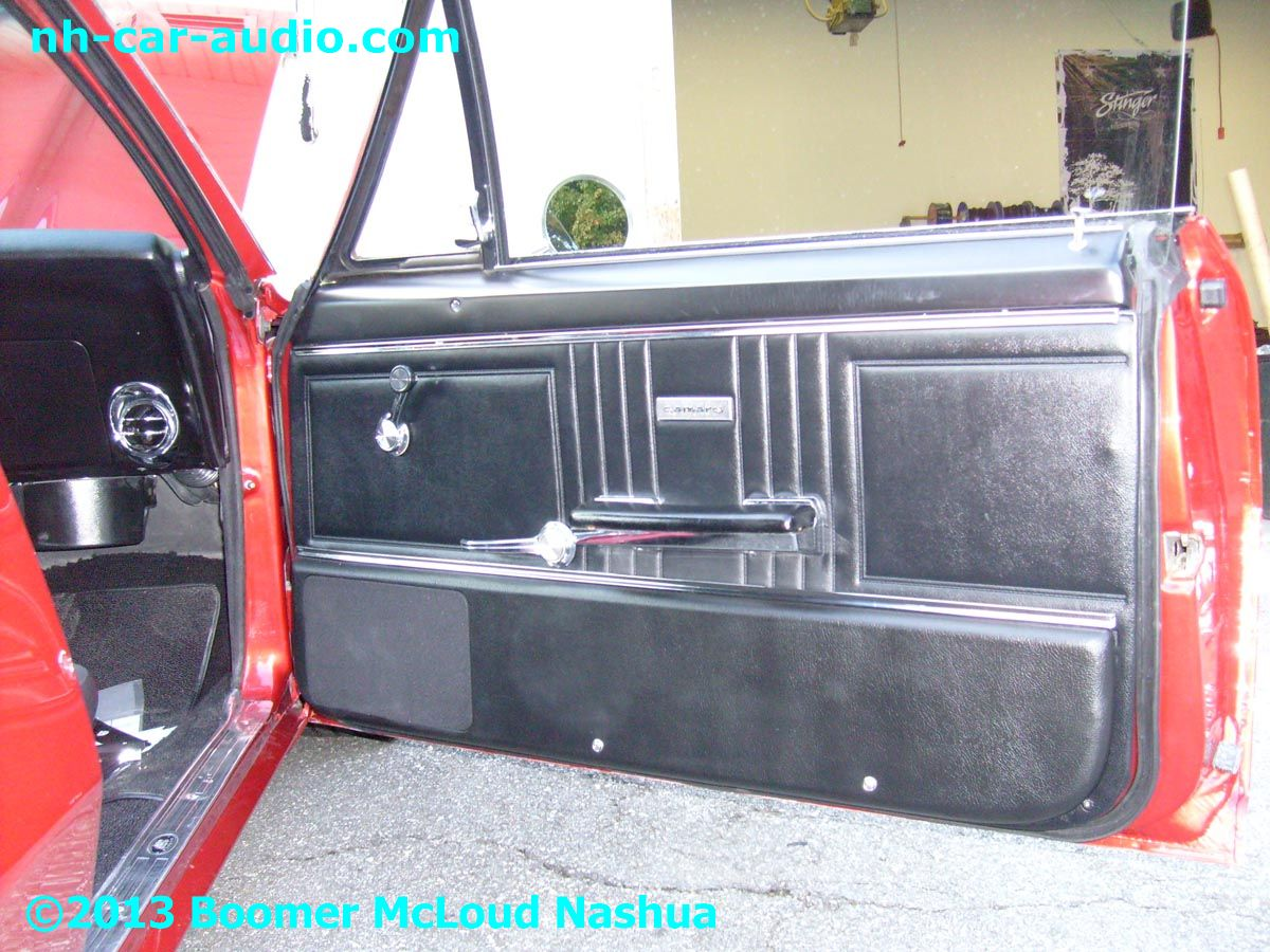 67 camaro custom door speaker install boomer nashua for 04 chevy silverado door speakers