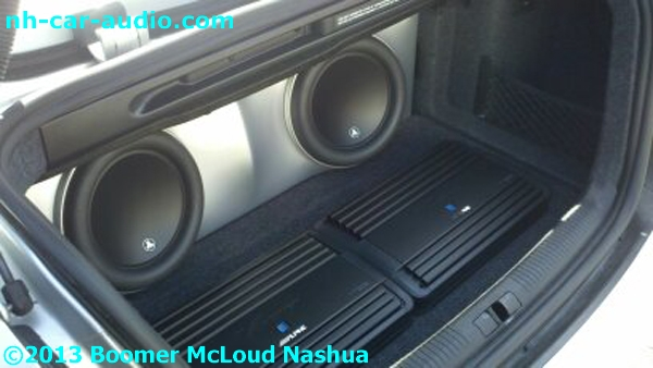 Audi S4 Custom Fiberglass Subwoofer Box Amplifier Stereo