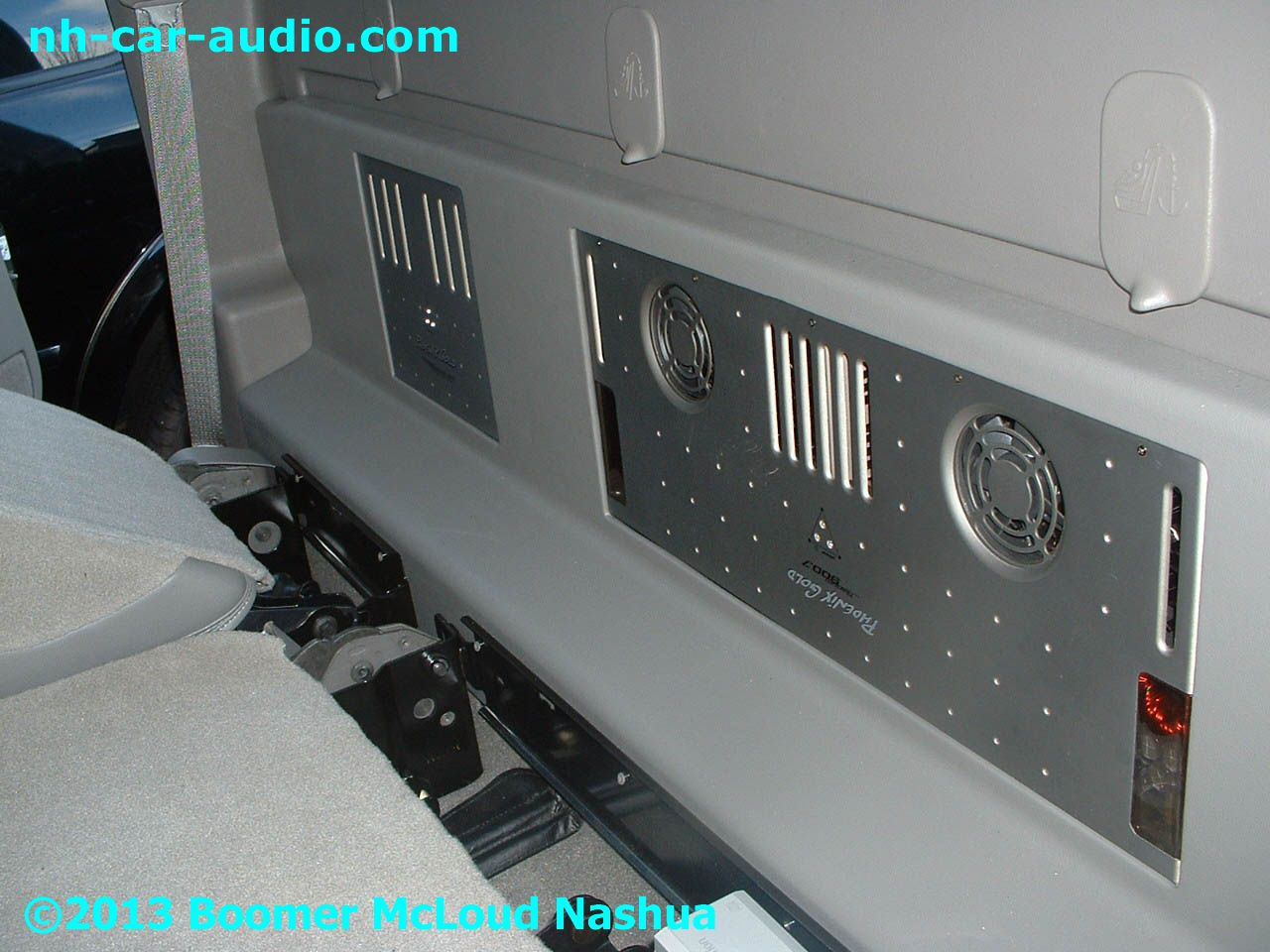 Chevy Silverado custom amplifier rack Boomer Nashua