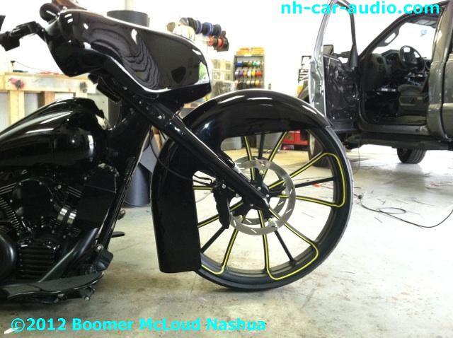 Custom-Harley-American-Bagger-front-fork