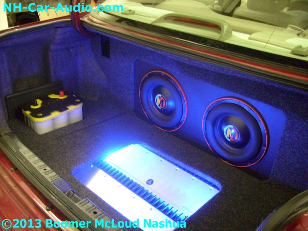 Honda-accord-custom-trunk-subwoofer-enclosure-battery-amplifier
