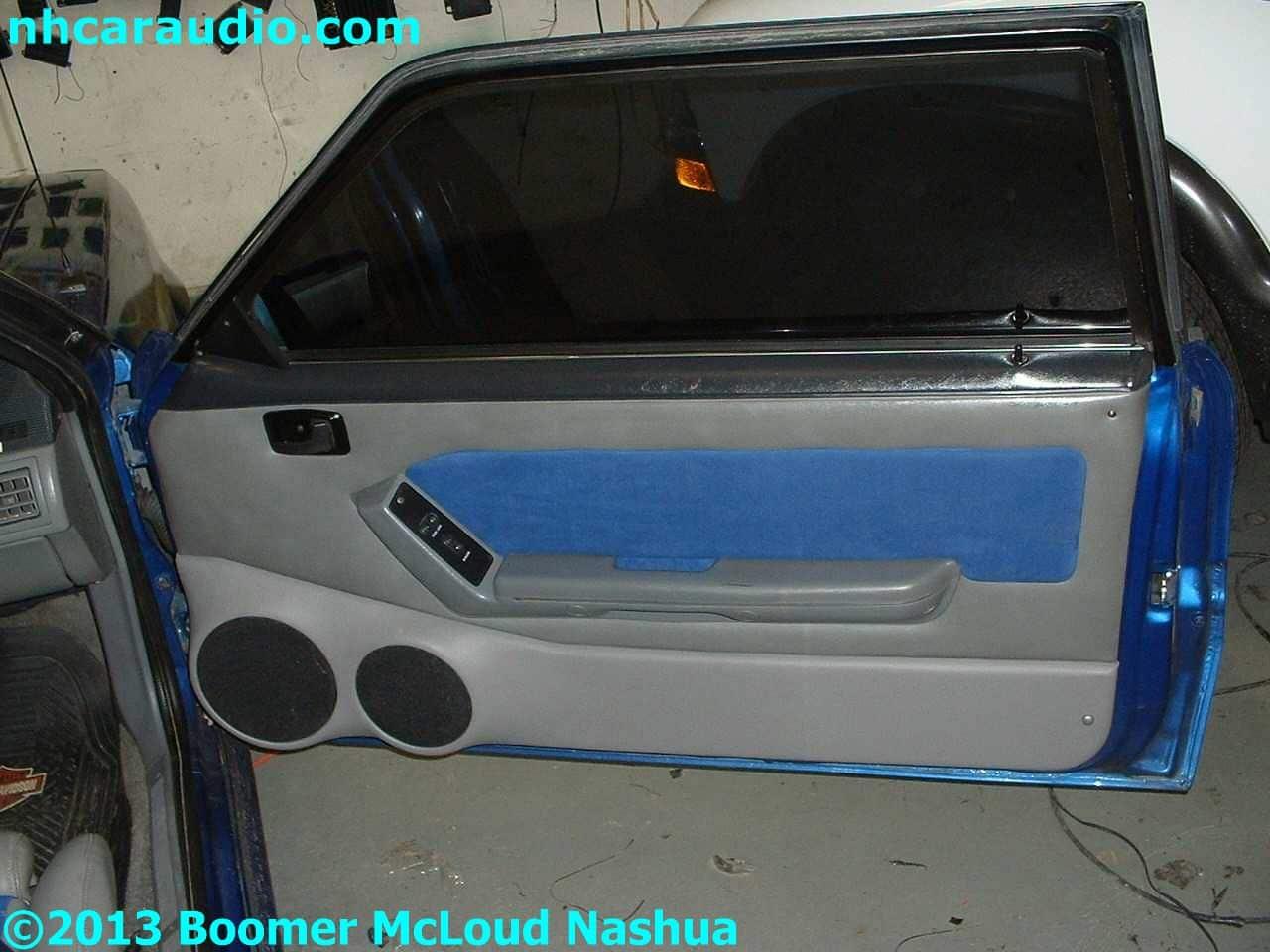 Mustang Custom Speaker Door Installation Boomer Nashua
