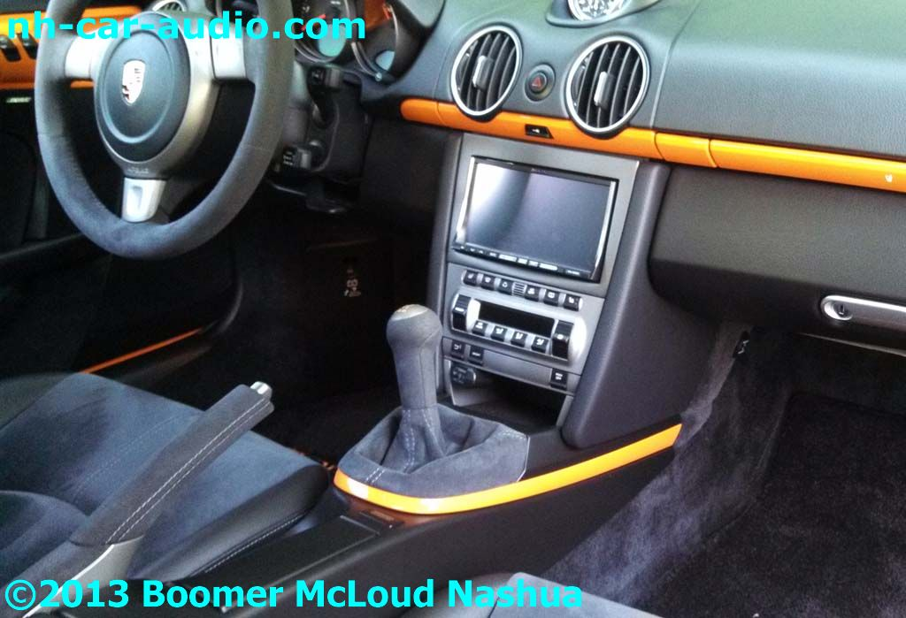 Porsche-Boxster-convertible-navigation-radio-upgrade