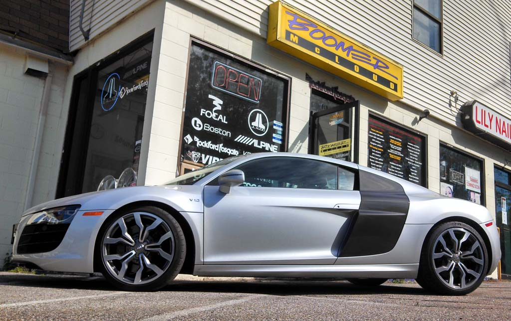 Audi R8 Custom Radar Detection Laser Diffusion Install
