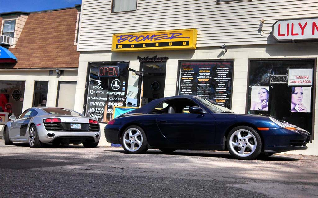 Audi R8 Porsche Radar Audio Upgrade Boomer Nashua Mobile