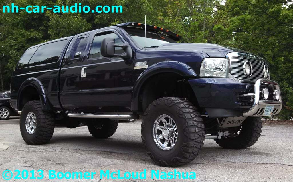 Ford-Superduty-lifted-audio-upgrade-multimedia-navigation