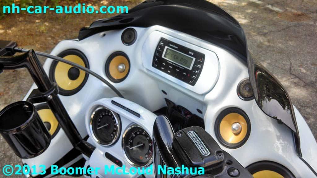 Car Starter App >> Harley-Roadglide-motorized-glove-box-custom-radio-closed - Boomer Nashua Mobile Electronics