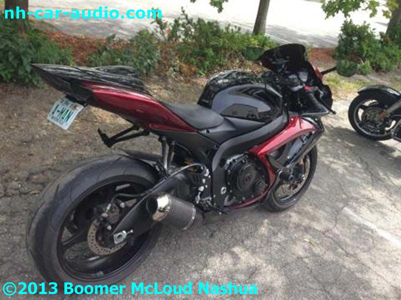 Street Bike Suzuki Stereo System Boomer Nashua Mobile Electronics