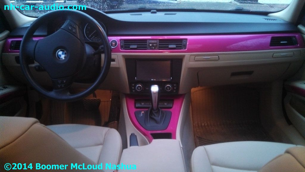 pink bmw custom interior boomer nashua mobile electronics. Black Bedroom Furniture Sets. Home Design Ideas