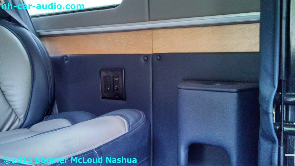 Mercedes Sprinter Van Custom Interior Storage Cup Holder Boomer Nashua Mobile Electronics