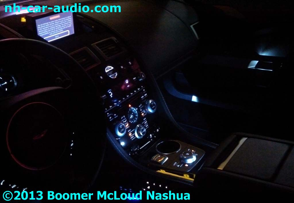 Aston Martin Rapide Night Custom Interior Led Lighting