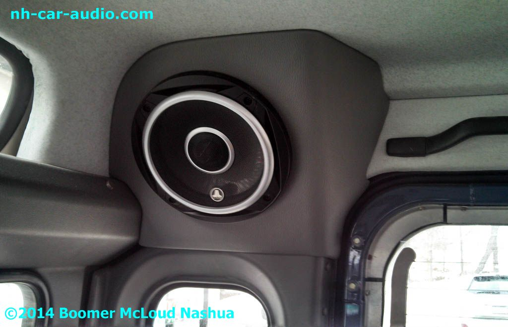 Defender-custom-fitted-vinyl-wrapped-speaker-pod