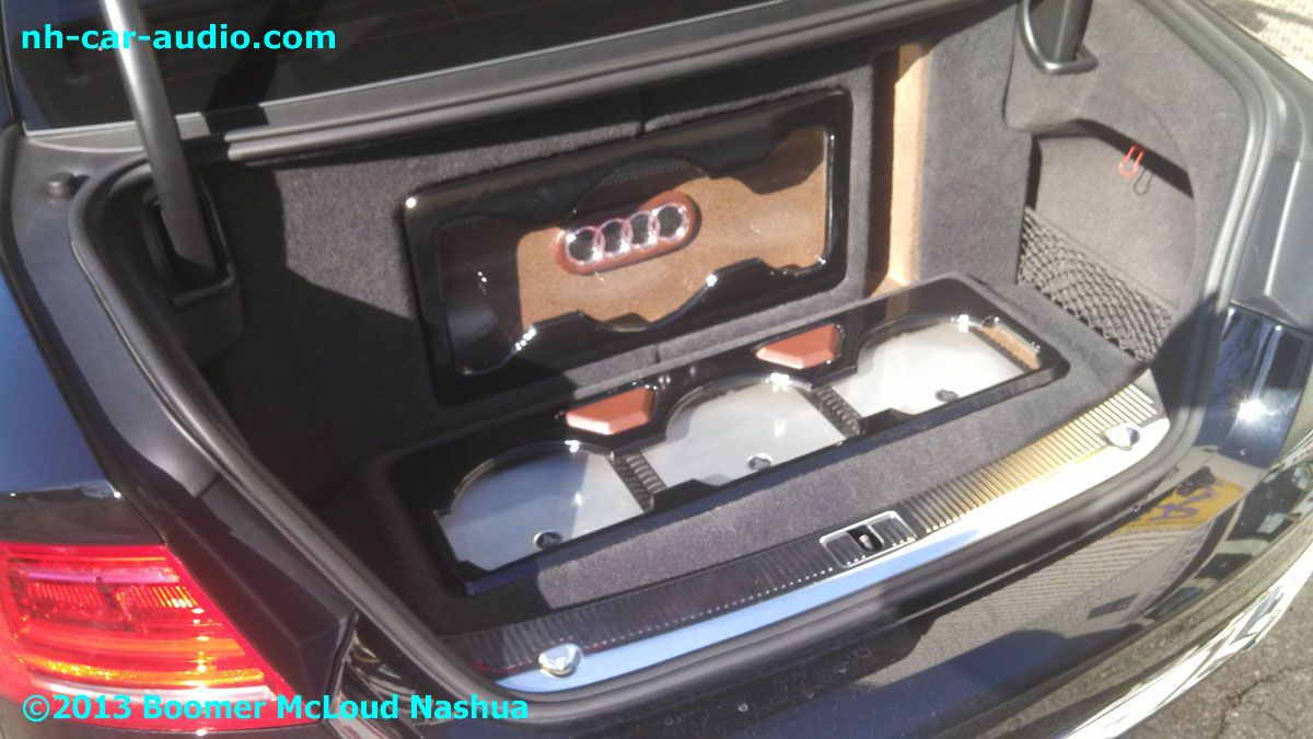 Audi S8 Customer Built Amp Rack Subwoofer Enclosure