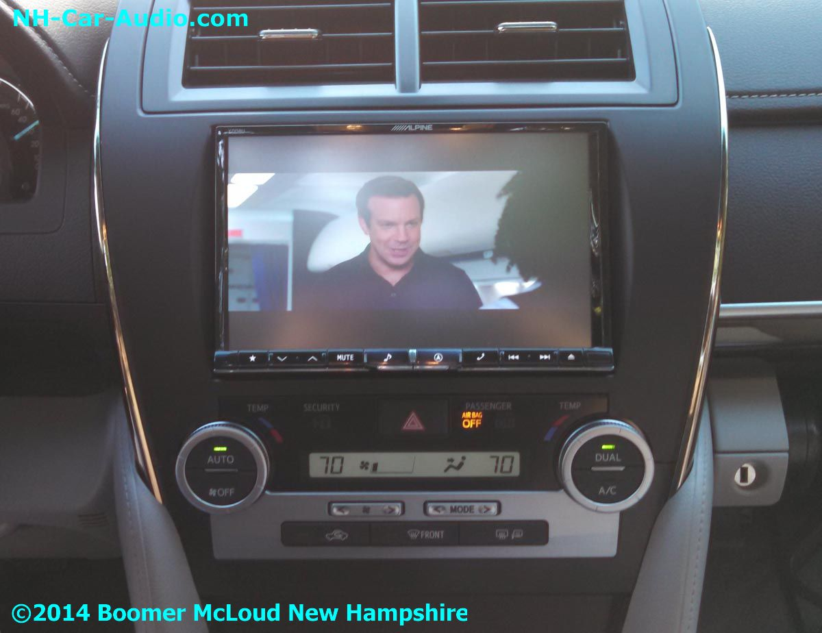 2014-Camry-Alpine-iPad-iPhone-video-playback-in-car