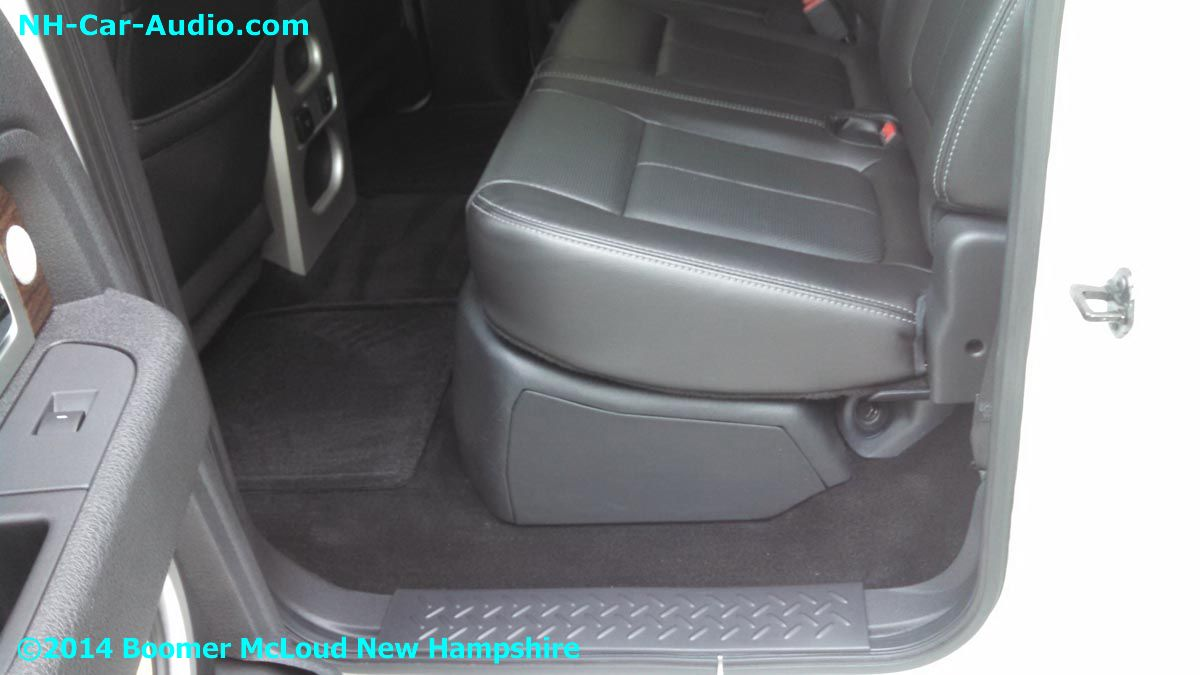 where is the subwoofer on a 2014 ford f150