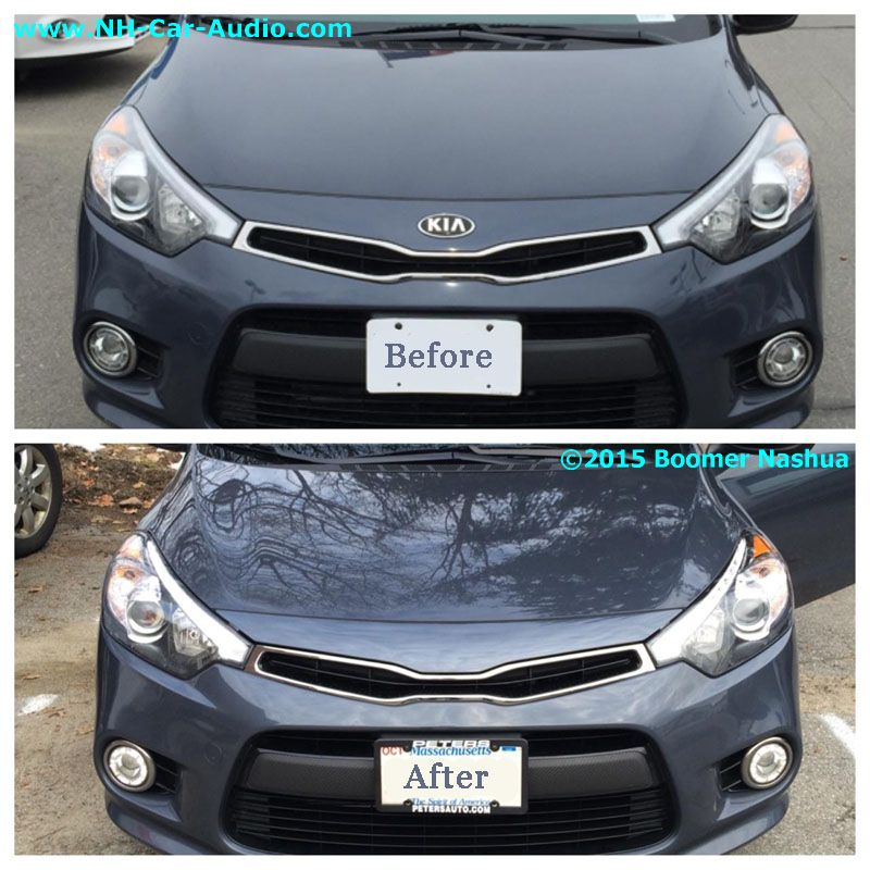 2015 Kia Forte Exterior: Kia-Forte5-before-and-after-debadge-front