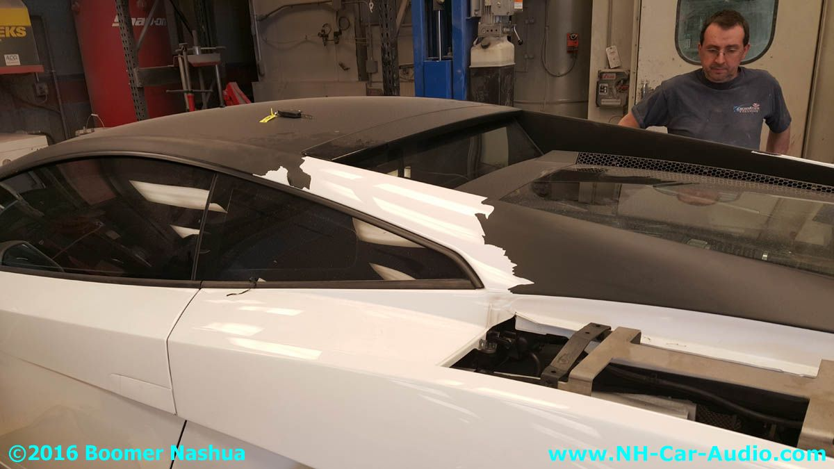 Lamborghini Gallardo Peel Off Vinyl Wrap Over The Roof