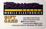 Boomer Nashua Gift Cards & Certificates