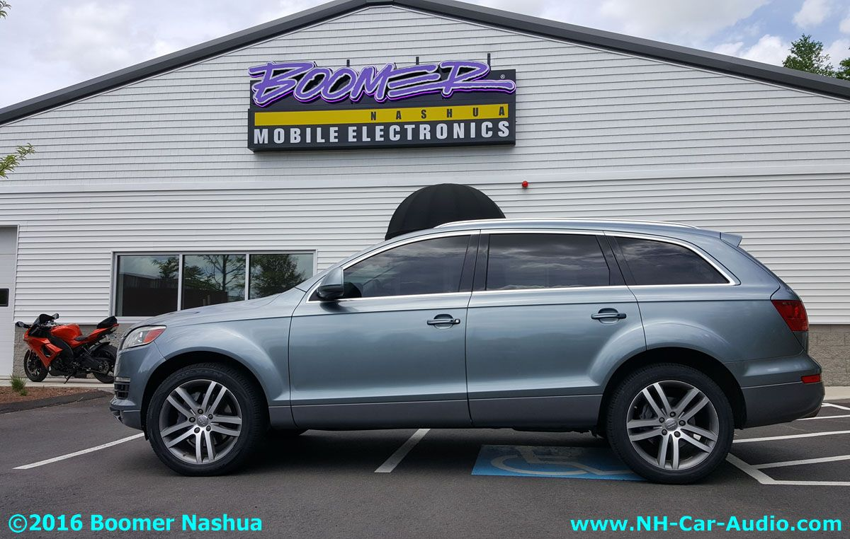 Audi Q7 Premium Hidden Audio Boomer Nashua Mobile