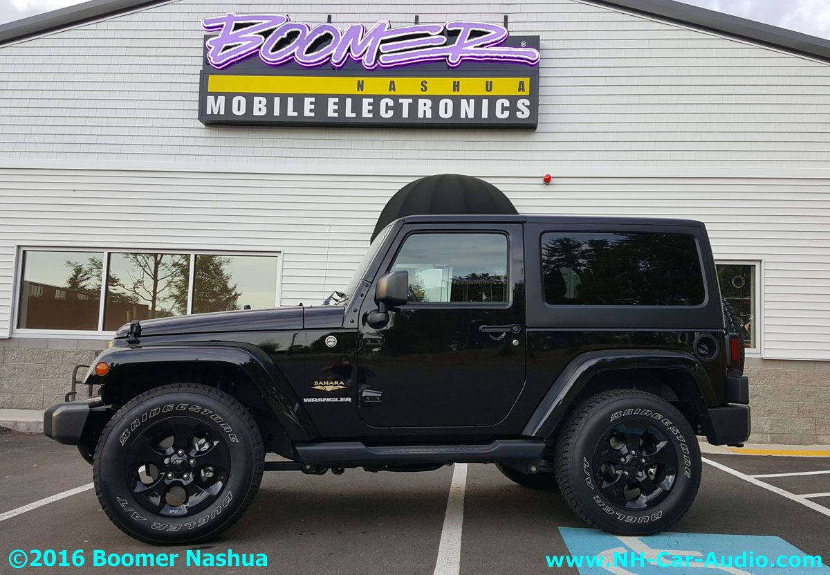 jeep wrangler subwoofer add on boomer nashua mobile electronics. Black Bedroom Furniture Sets. Home Design Ideas