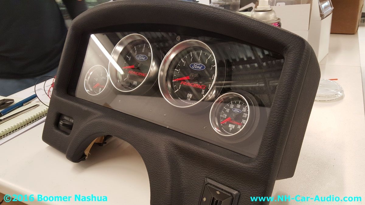 mustang fox body handmade gauge cluster boomer nashua. Black Bedroom Furniture Sets. Home Design Ideas