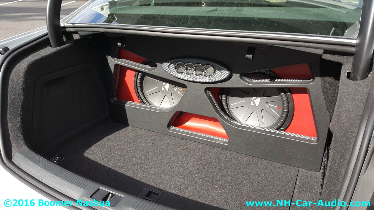 Audi A4 Custom Subwoofer Enclosure Boomer Nashua Mobile