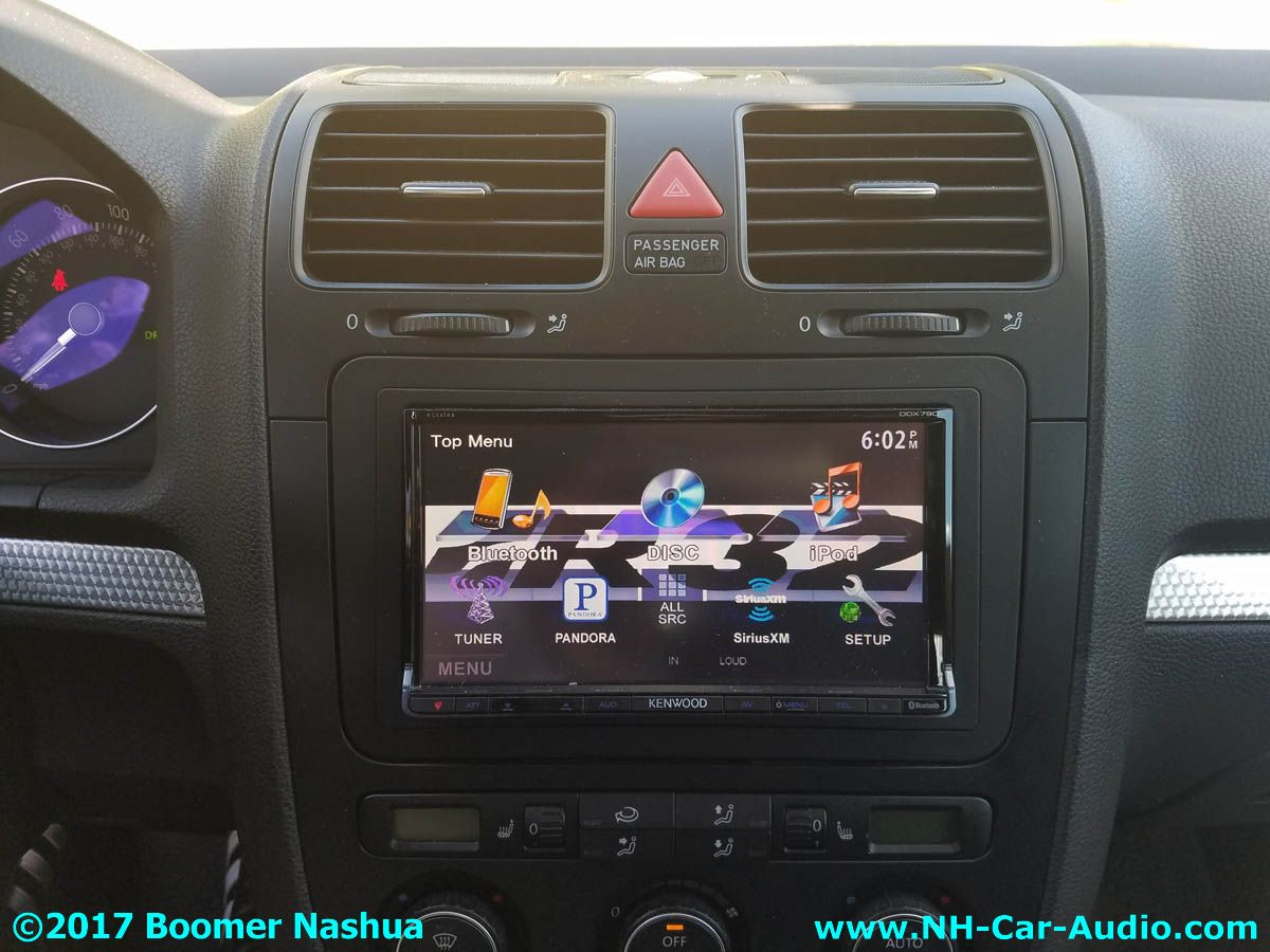 vw golf new radio kenwood bluetooth boomer nashua mobile. Black Bedroom Furniture Sets. Home Design Ideas